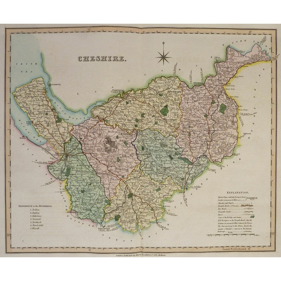 Cheshire - teesdale, 1851 | Storey's