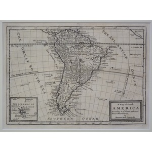 A map of south america - moll, 1717