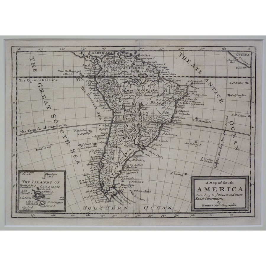 A map of south america - moll. | Storey's