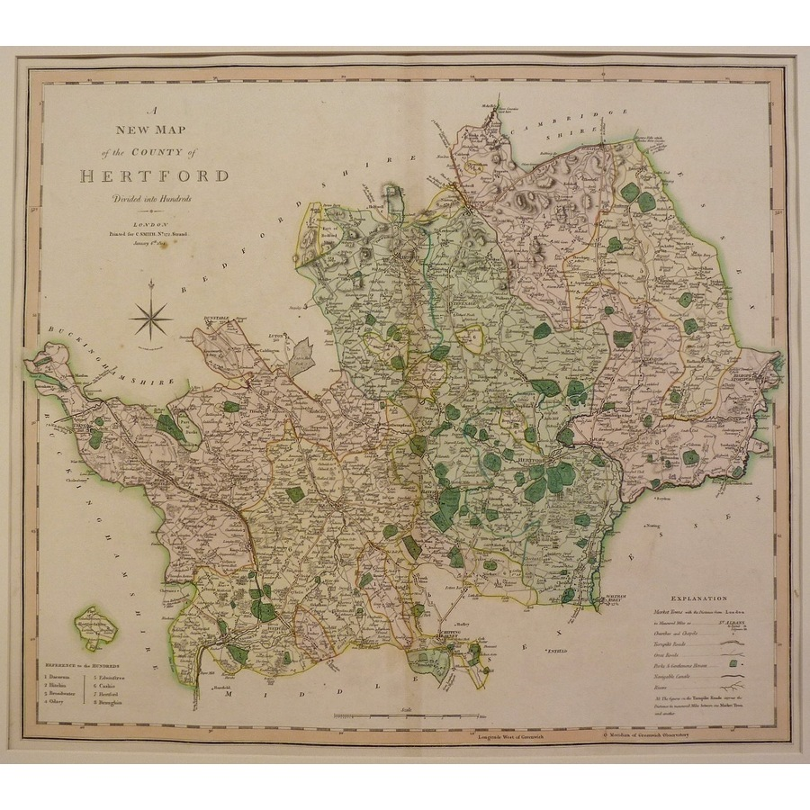 A new map of the county of he. | Storey's