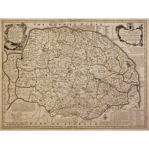An accurate map of the county of norfolk - bowen, 1780