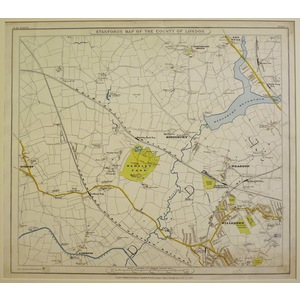 Stanfords map of the county of london - sheet  1 - wembley, neasden, willesden