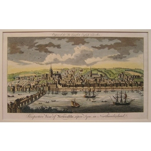 Perspective view of newcastle, upon tyne, in northumberland