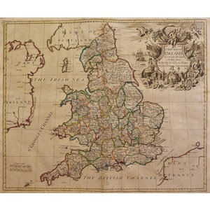 A new map of england from the latest observations - j. Senex