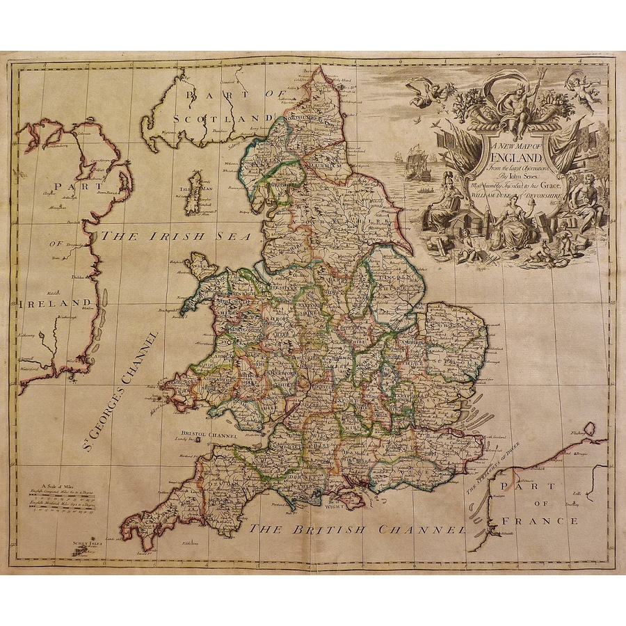 A new map of england from the.   Storey's