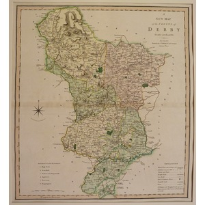 A new map of the county of derby