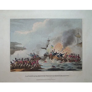 Landing of the british troops in egypt - march 8th 1801