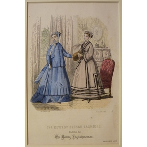 The newest french fashions - plate 12, december 1867