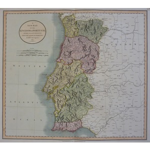 A New Map of the Kingdom of Portugal Divided into its Provinces - Cary, 1801