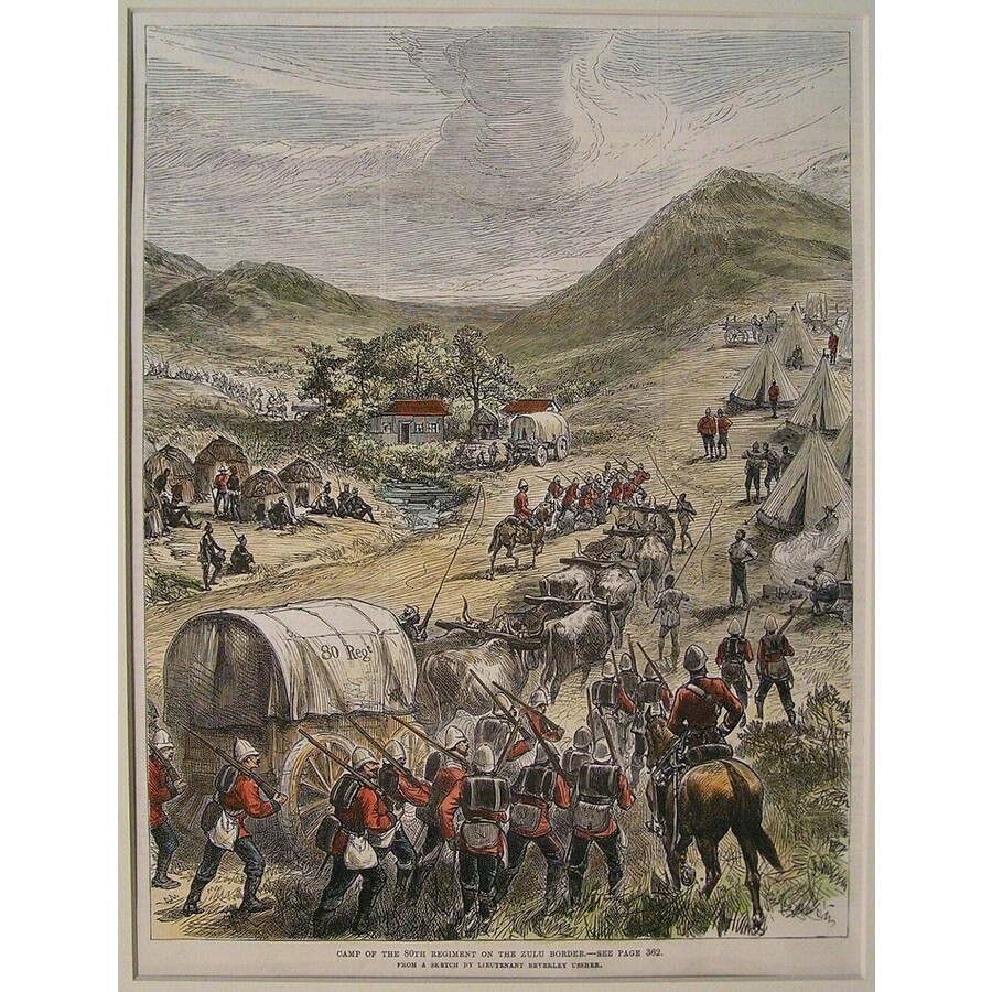 Camp of the 80th regiment on . | Storey's
