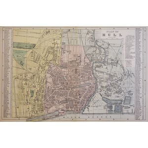 Hull, Plan of - Original antique map. Published by G.W. Bacon, 1881 for the