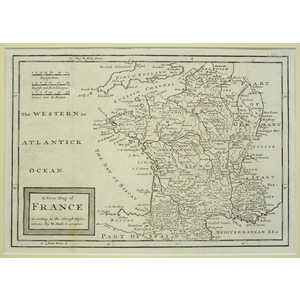 A new map of france - moll, 1711