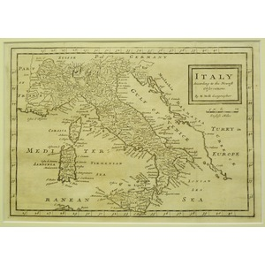 Italy according to the newest observations - h. Moll, 1711
