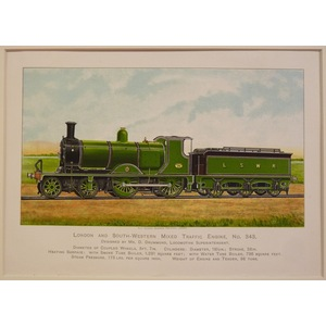 London and south western mixed traffic engine no 343