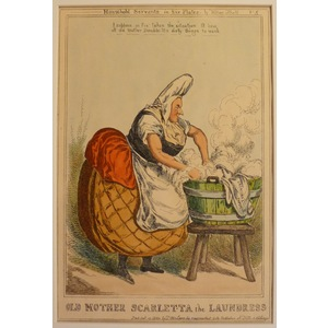Old mother scarletta the laundress - household servants, plate no. 5