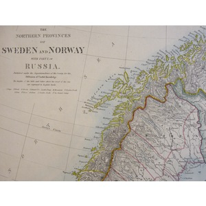The Northern Provinces of Sweden and Norway with Part of Russia - SDUK, 1874
