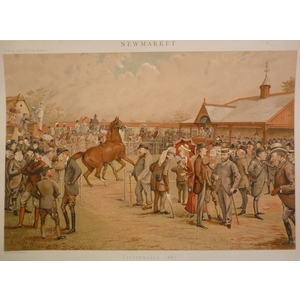Tattersalls  1887; Original antique lithograph, published for Vanity fair, 1887