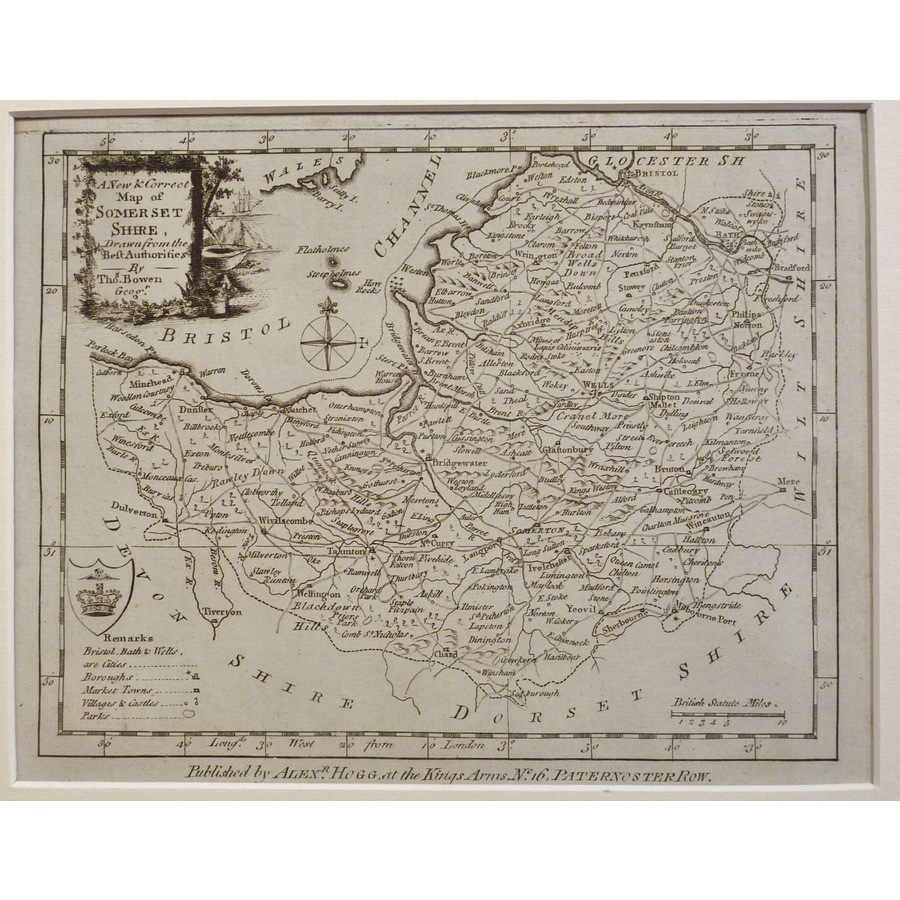 A new map of somersetshire | Storey's