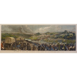 The relief of ekowe - lord chelmsfords column crossing the amantikulu river, march 31, 1879