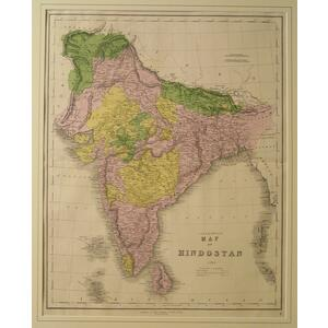 Gall & inglis map of hindoostan 1850