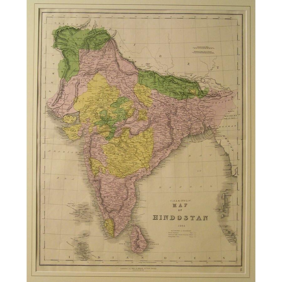 Gall & inglis map of hindoost.   Storey's