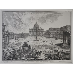 View of the St. Peter's Basilica and the Square in the Vatican