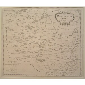 Morden ; Robert (1650 – 1703) Huntingdonshire. Original antique map. First impression  Is well kn...