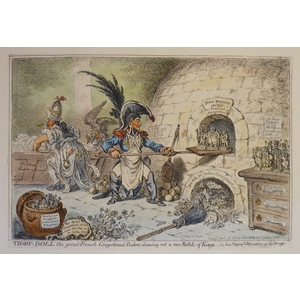 Tiddy-Doll the Great French Gingerbread Maker - Original antique copper engraving by James Gillra...
