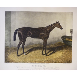Kingcraft. Handcoloured copper engraved print after Hunt. Reissued from the original plate.