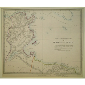 Tunis and part of tripoli - north africa - sheet 3