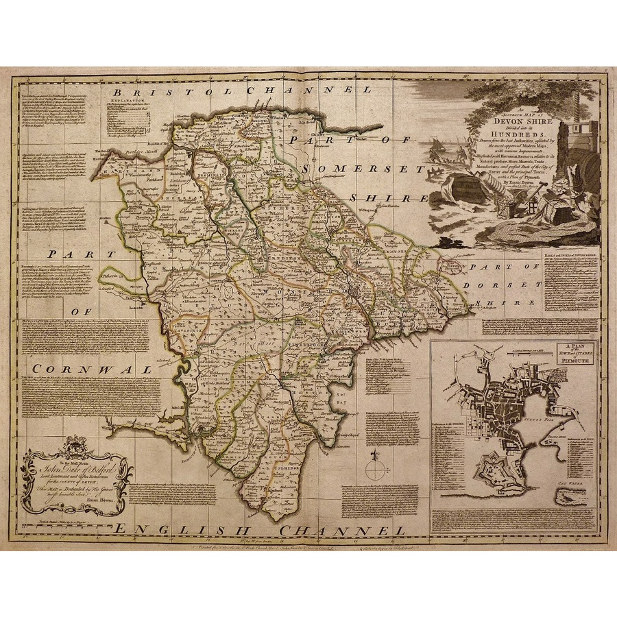An accurate map of devonshire. | Storey's
