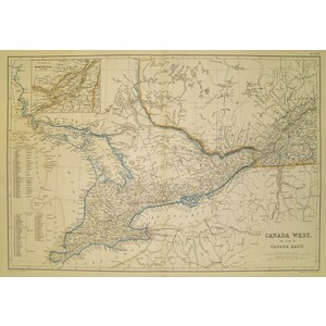 Canada west and part of canada east