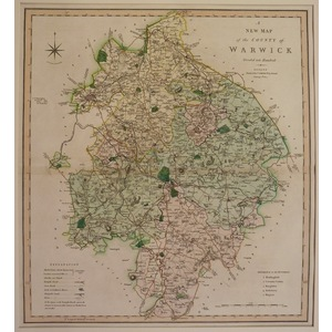A new map of the county of warwick