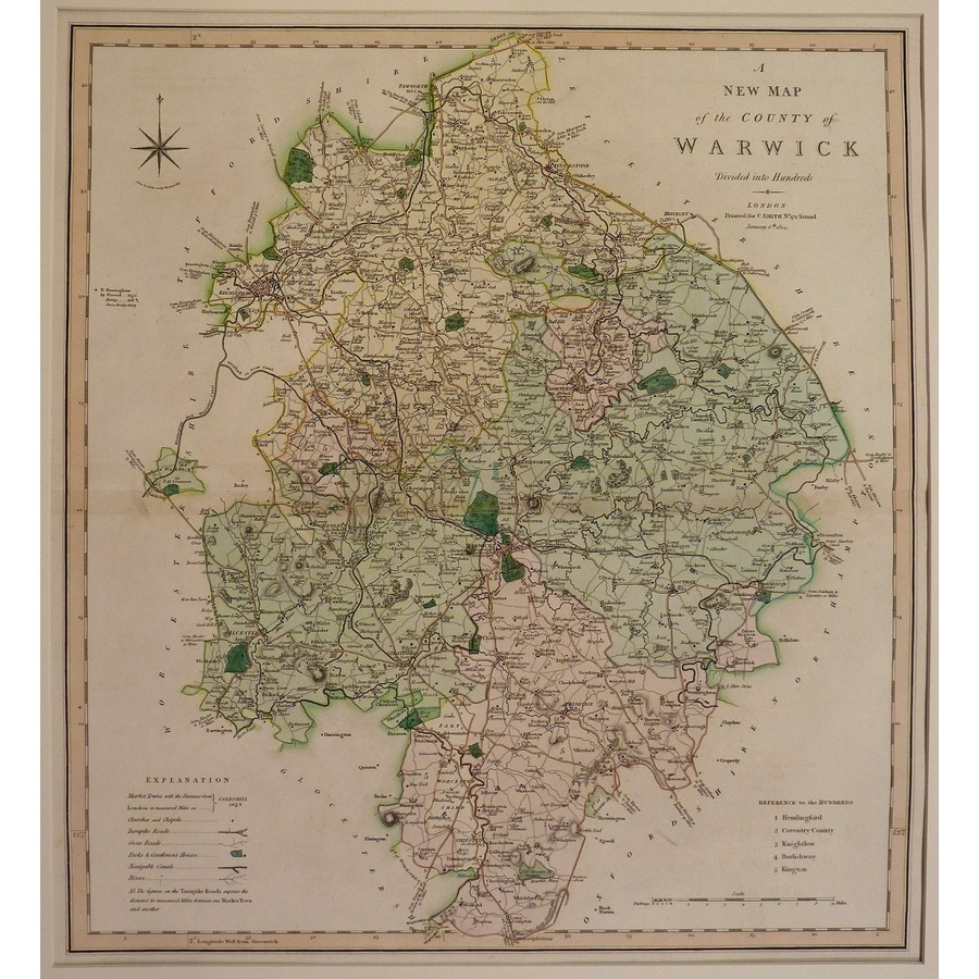 A new map of the county of wa.   Storey's