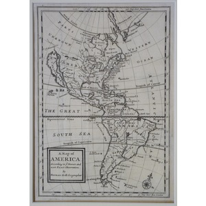 A map of america - moll, 1717