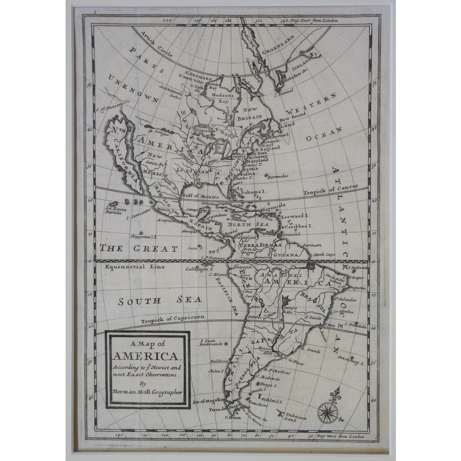 A map of america - moll, 1717 | Storey's