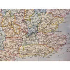 England and Wales - Original antique map by Sydney Hall, 1840