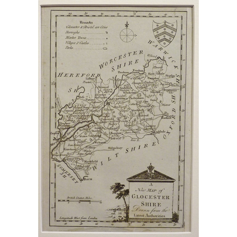 A new map of glocestershire | Storey's