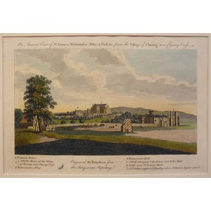 An ancient view of st jamess westminster abby & hall