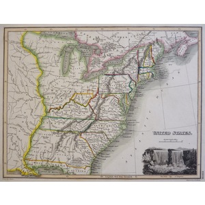 United States - Original antique map by John Thomson, 1827