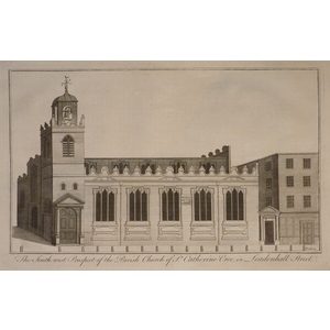 The south west prospect of the parish church of st catherine cree in leadenhall street