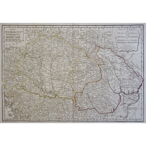 Hungary and Transylvania with Croatia and Sclavonia - Original antique engraved map by Samuel Dun...