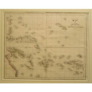 Gall&inglis map of islands in the pacific ocean, 1850'