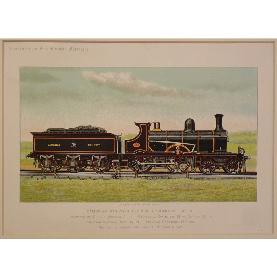 Cambrian railways express loc. | Storey's
