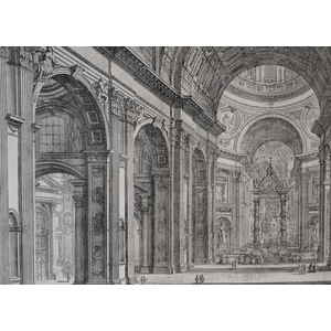 View of the Interior of St Peter's Basilica in the Vatican