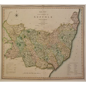 A new map of the county of suffolk