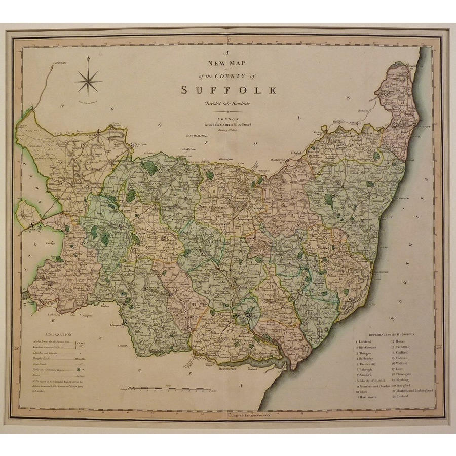 A new map of the county of su. | Storey's