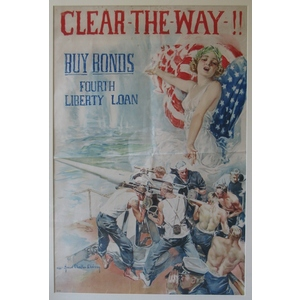 Clear the way!! Buy bonds. Fourth liberty loan. 1918.
