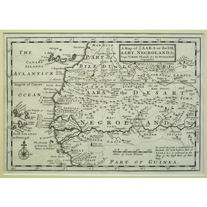 A map of zaara or the desart, negroland & cape verde islands