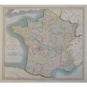 A New Map of France Agreeable to its Division into Provinces, as Previous to the Revolution